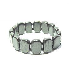 Shungite Plate and Glass Bead Bracelet