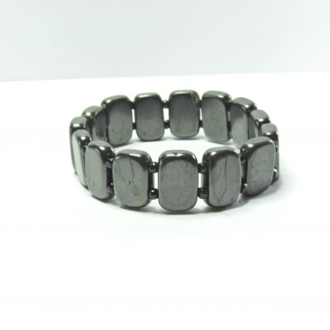 Shungite Plate and Glass Bead Bracelet