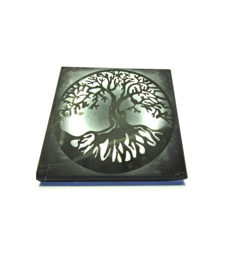 Shungite Tree Of Life Polished Tile