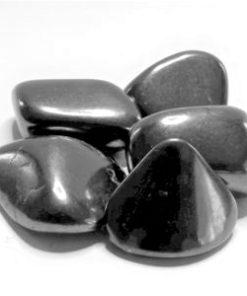Shungite Tumbled and Flat Stones