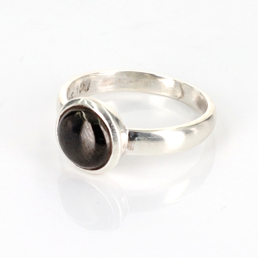 Shungite Cabochon Ring