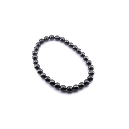 hungite 6mm bead bracelet