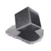 5cm Polished Shungite cube on stand